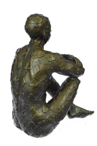 poker-bronze-sculpture